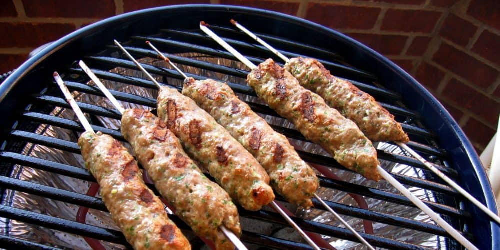 sausage made in electric grill