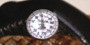 grill thermometer on a table