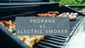 a banner of propane vs electric smoker